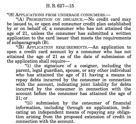 Section 301, Credit Card Act
