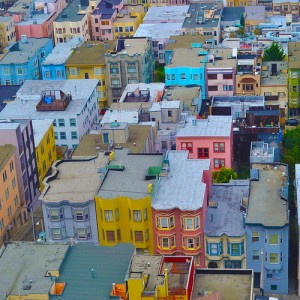 Colorful homes in San Francisco