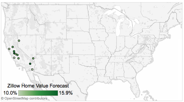 zillow forecast map