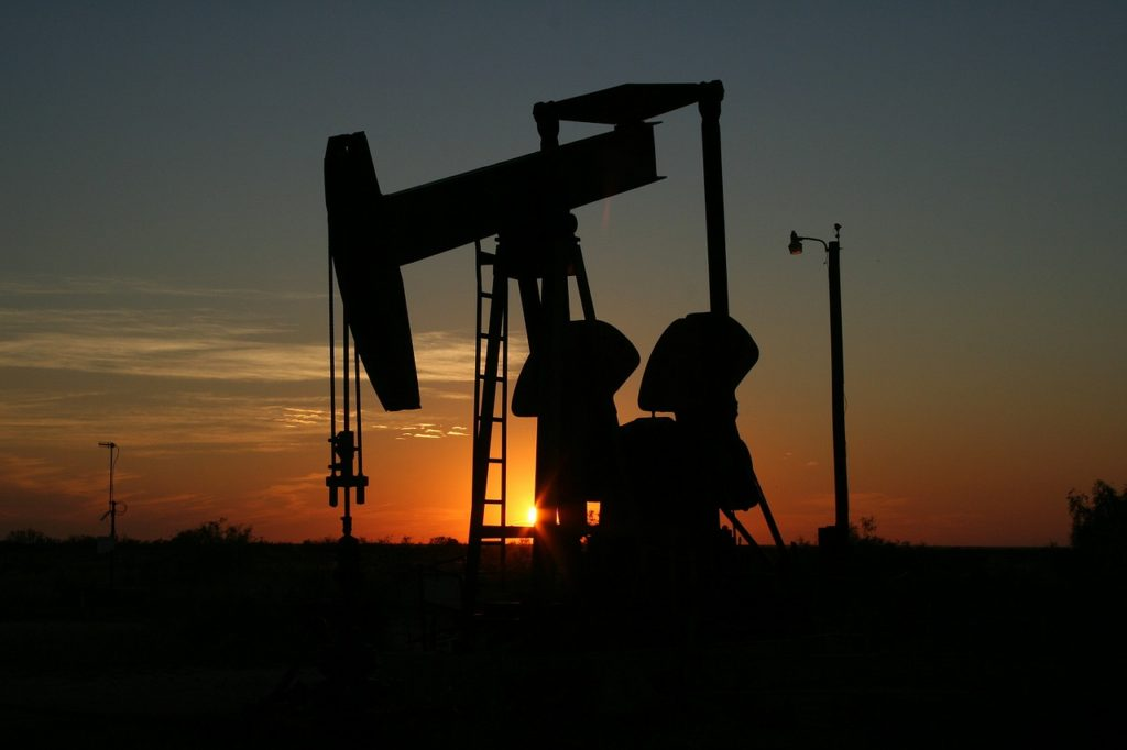Picture of Texas oil field