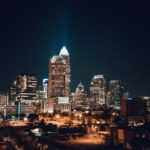 Charlotte skyline night